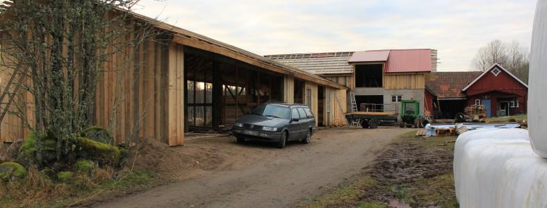 Bygge av stall